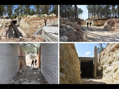 In the Afrin area, a large underground headquarters of YPG