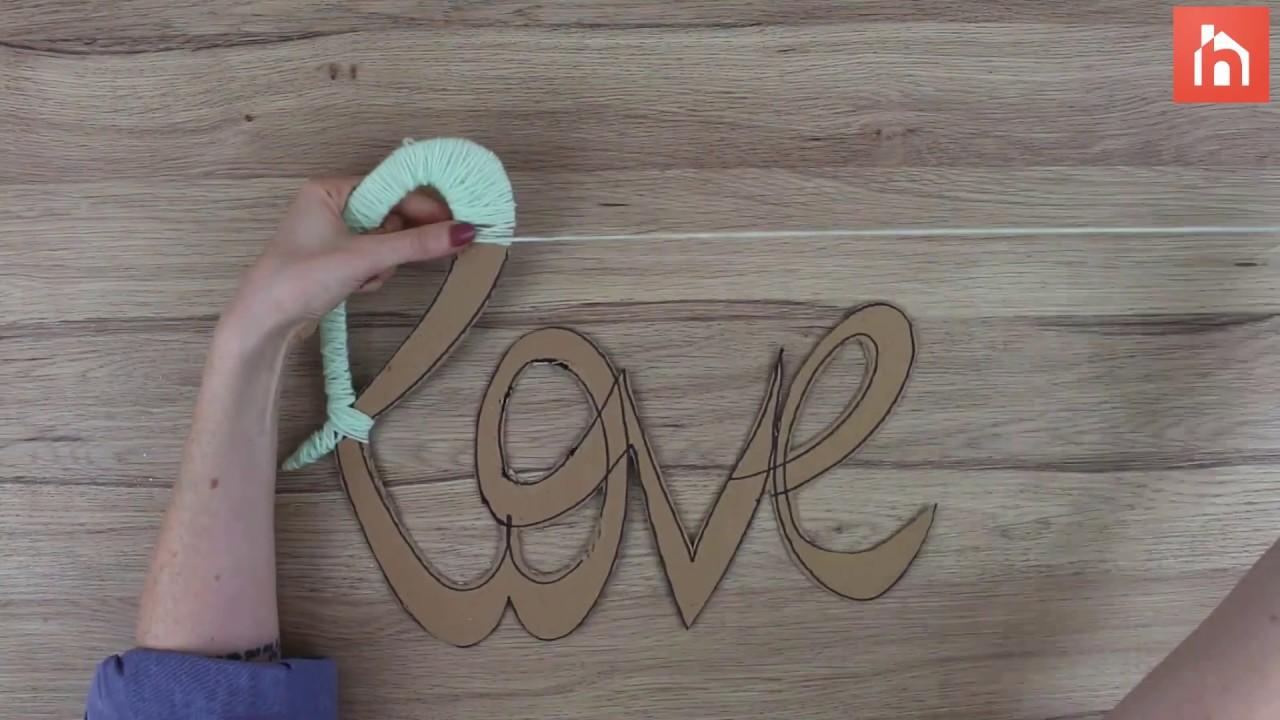 Yarn Wall Art cardboard and yarn wall art - youtube