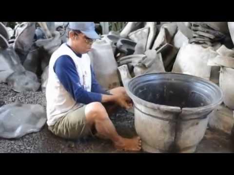 Pembuatan Pot Tanaman 3 ( How to make Pottery / Plant's pot )