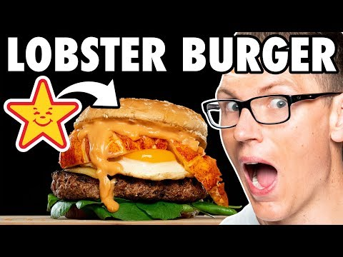 Carl's Jr. Lobster Champagne Brunch Burger Taste Test | FUTURE FAST FOOD
