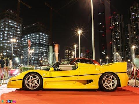 Ferrari F50 of P1McLaren - revs & amazing acceleration sound - Gulf Car Festival 2014