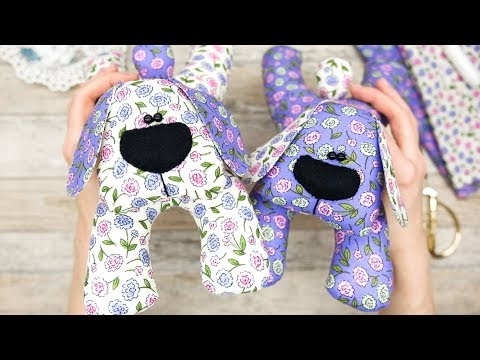 Мягкие игрушки своими руками выкройки собаки