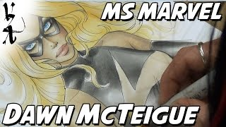 Dawn McTeigue coloring Ms. Marvel