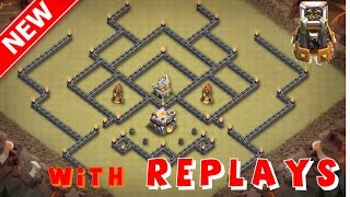 BEST NEW TH11 WAR/TROPHY BASE - ANTI-1 STAR! [Build+ Replays] [2017] - Anti-Bowler