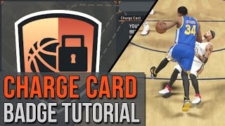 NBA 2K15 - 2K16 Charge Card Badge Tutorial w/ Diagram! - Draw Charges Easily!!