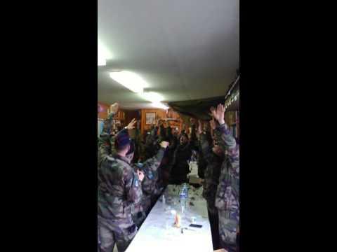 Ambiance des troupes de marine RICM à Bazeilles le 11 février.