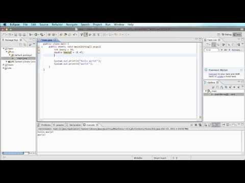 Java 2 - Variables(int, double, String)