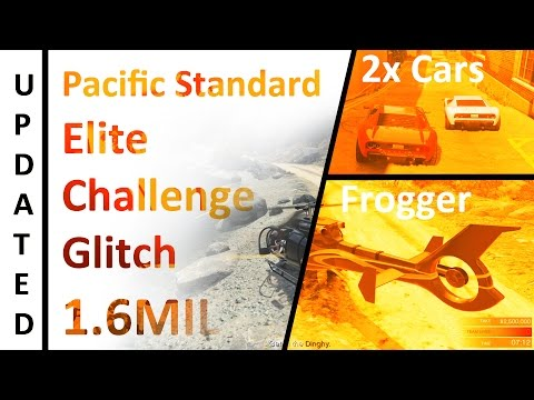 UPDATED METHOD Pacific Standard Elite Challenge GLITCH (with a CAR and Frogger Heli) GTA Online