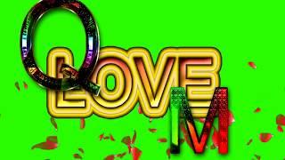 Q Love M Letter Green Screen For WhatsApp Status | Q & M Love,Effects chroma key Animated Video