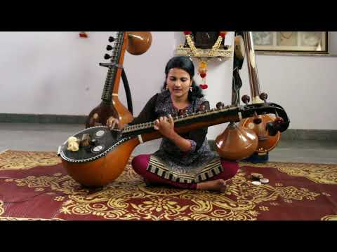 Shilegalu sangeetava hadide song cover in Veena by Monica