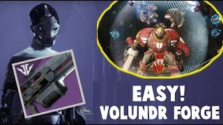 Destiny 2 Black Armory!  EASY VOLUNDR FORGE!  BOSS STRATEGY GUIDE