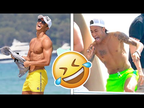 Famous Football Players During Their Holiday