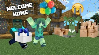 BABY ZOMBIE MOVES IN WITH MC NAVEED AND MARK FRIENDLY ZOMBIE FURNISH BABY ZOMBIES HOUSE Minecraft