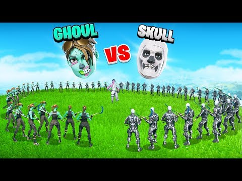 HALLOWEEN SHOWDOWN -  Ghoul Trooper Vs Skull Trooper | SKIN WARS 5