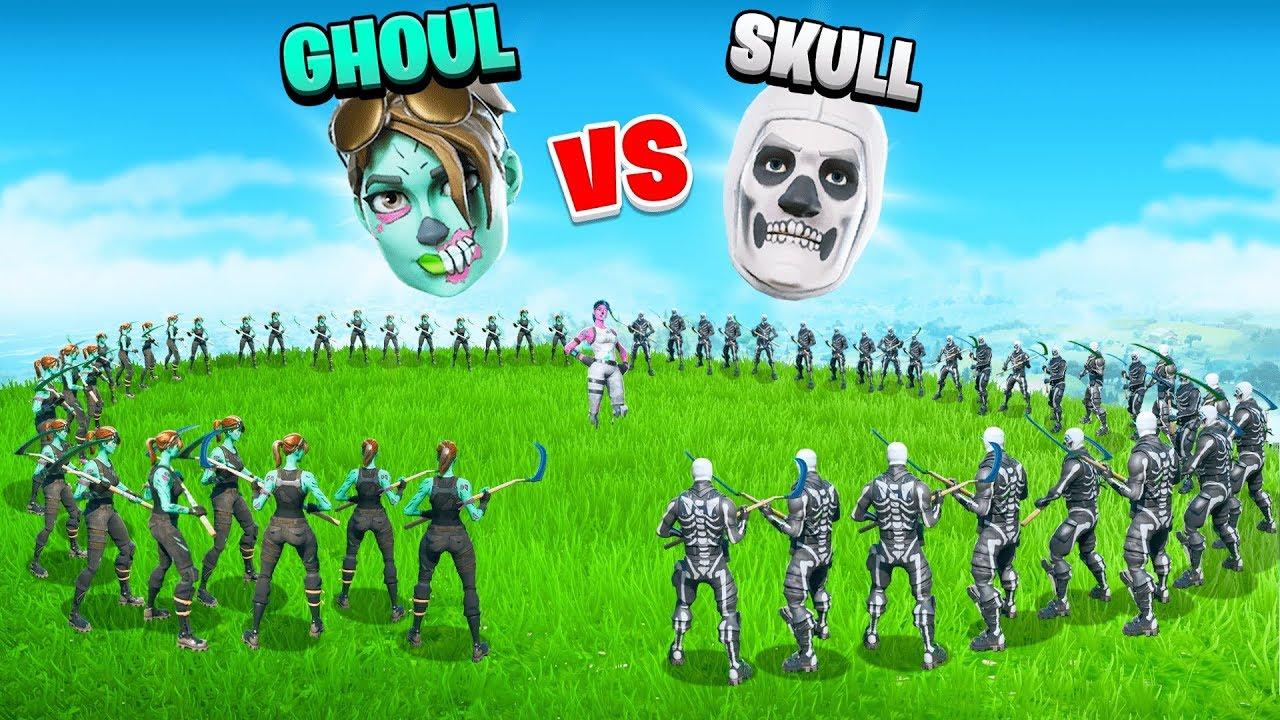HALLOWEEN SHOWDOWN -  Ghoul Trooper vs Skull Trooper   SKIN WARS 5