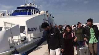 Mykonos Port - Superjet, champion jet cruises at Mykonos Greece