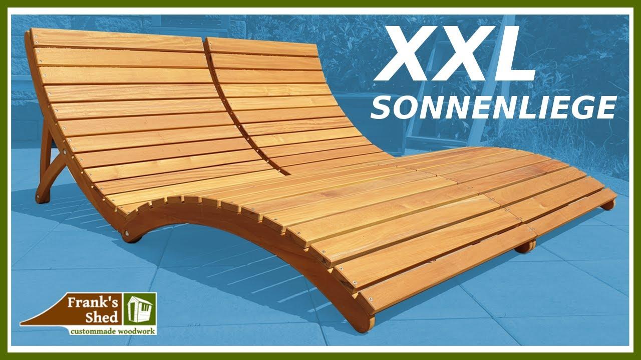 Klappbare XXL Sonnenliege aus Holz bauen Gartenmöbel selber bauen