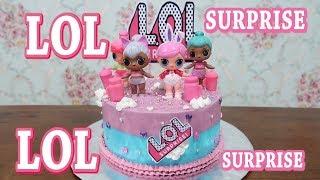 Cara Membuat Kue Ulang Tahun LOL Surprise Cake Tart 😍 Menghias Kue Ultah Anak Perempuan