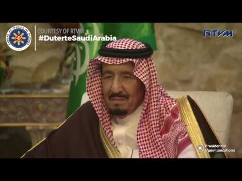 Duterte meets with Saudi Arabia's King Salman