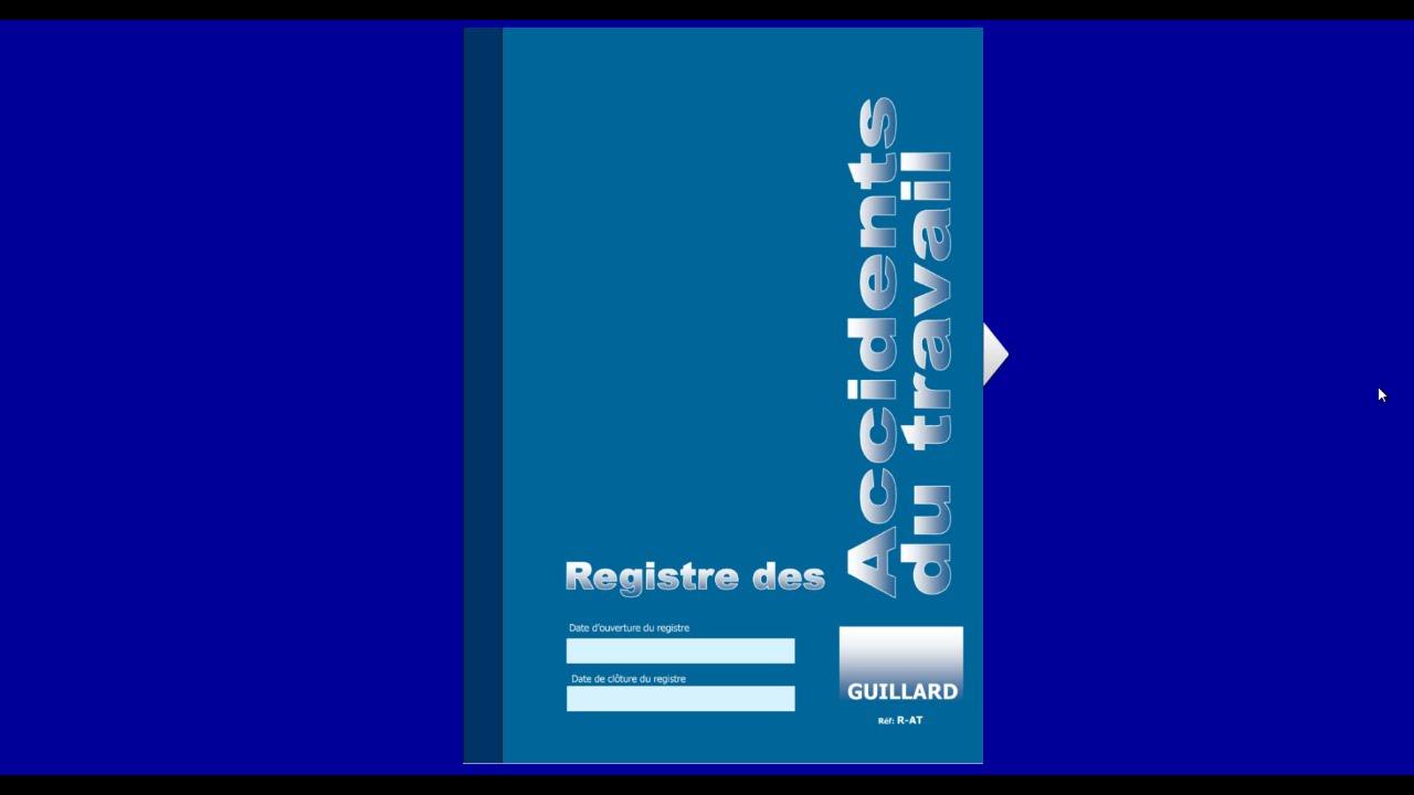 Registre ACCIDENT DU TRAVAIL - Guillard-Publications - YouTube