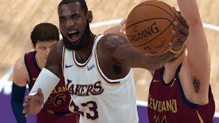 NBA 2k19 Lakers vs 76ers (Lebron James Crazy Dunk) Xbox One X 4k Game Play