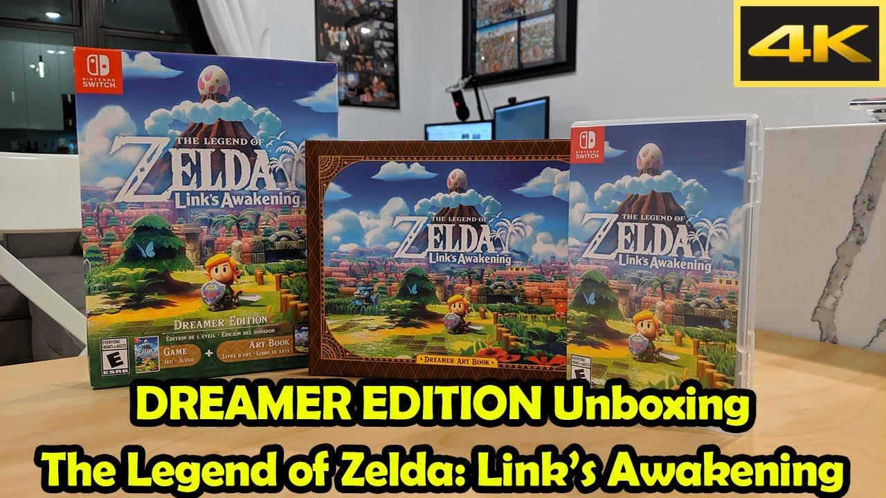 Dreamer Edition Unboxing Full Art Book 4k The Legend Of Zelda Link S Awakening