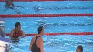 Final dos 100m borboleta masculino, no Mundial de Natação de Roma 2009
