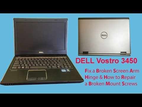 Fix a Broken Screen Arm Hinge And Screw Insert Nut  Threaded - Dell Vostro 3450