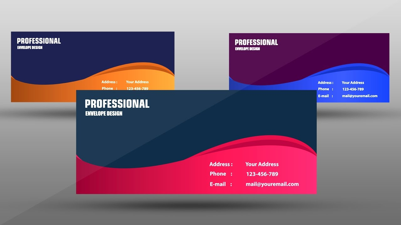 Professional envelope design adobe illustrator youtube youtube premium maxwellsz