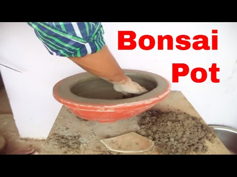 How to make cement Bonsai pots | Modern Bonsai Pot | Make Your Own Bonsai Pots