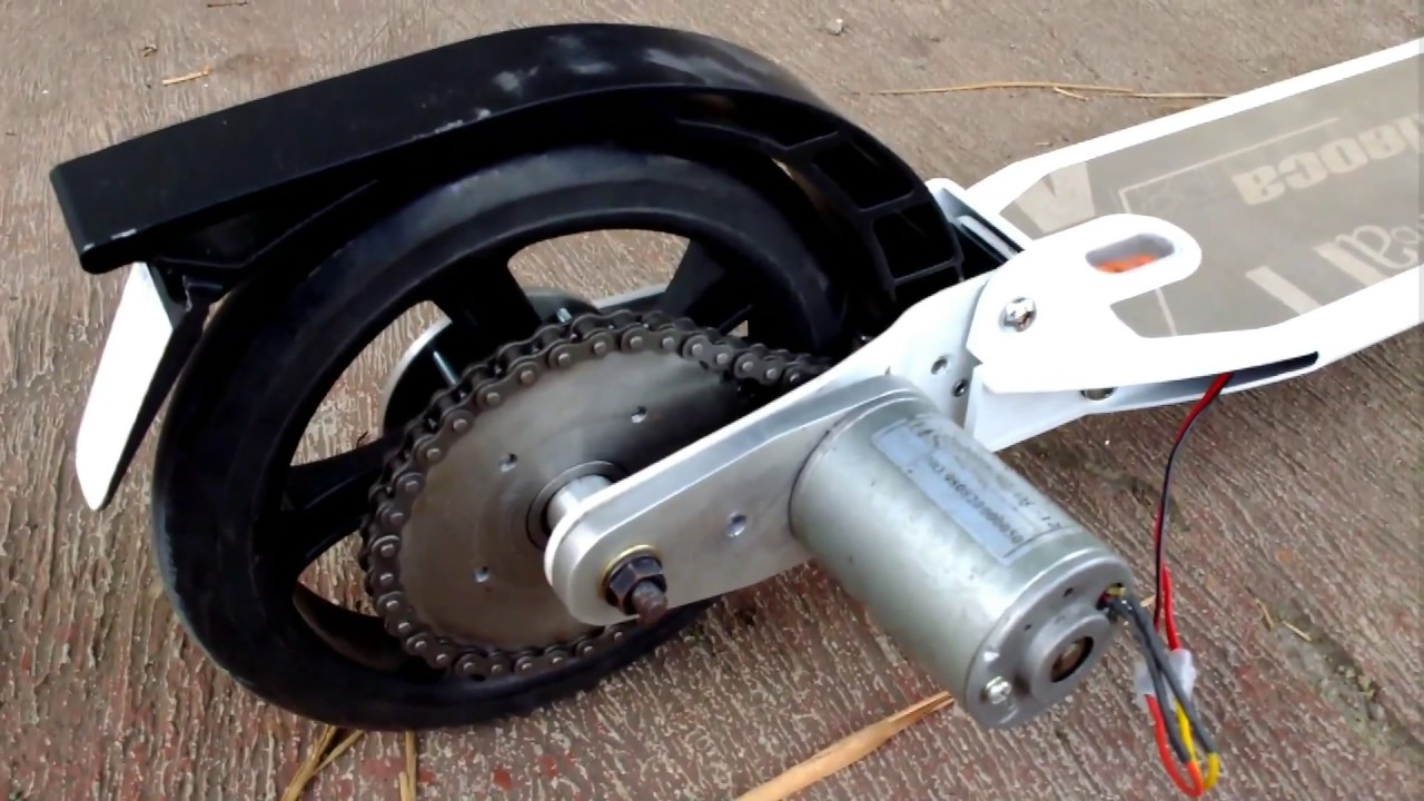 Electric Motor Scooter >> test project e-scooter homemade with brushed motor part 1 ...