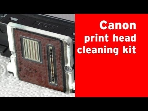 Canon print head cleaning with nozzle cleaner fluid