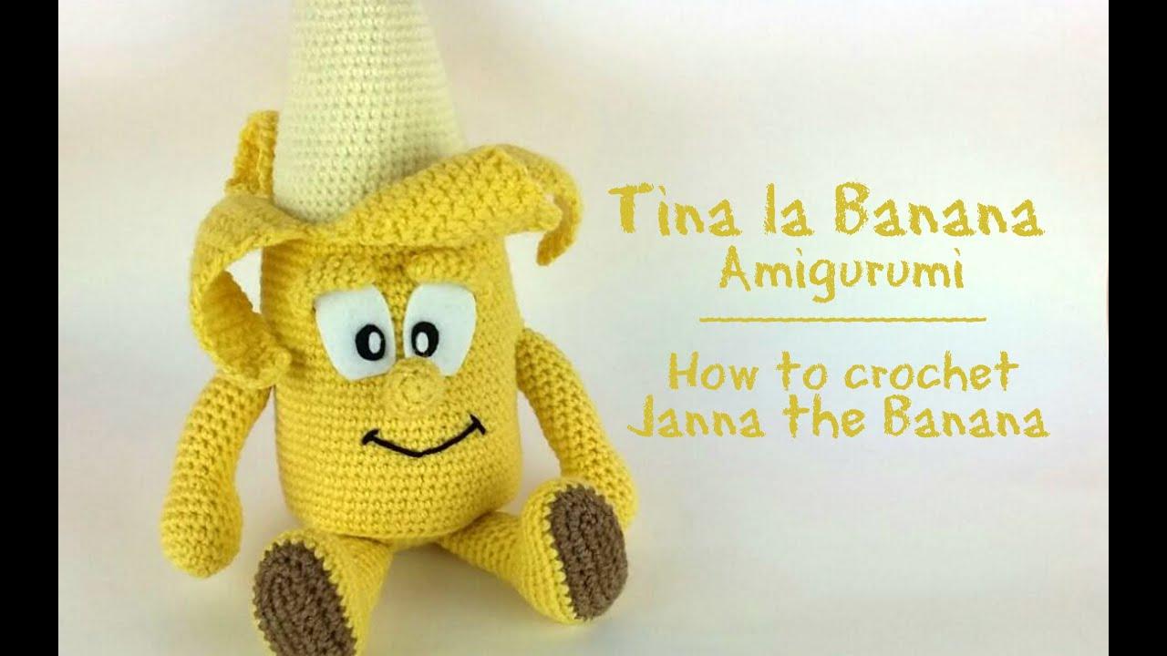 Amigurumi Doraemon Free Pattern : La banana tina amigurumi how to crochet janna the banana youtube