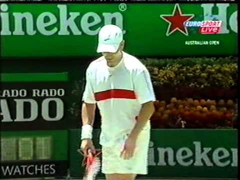 Australia Open 2004 2runda Agassi-Berdych M.Safin-Nieminem