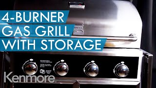 Kenmore 4-burner Gas Grill With Convenient Open Storage