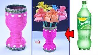 Wool Vase Idea | DIY Innovative Ideas Of Flower Vase | How to Make Flower Vase | Empty Bottle Crafts