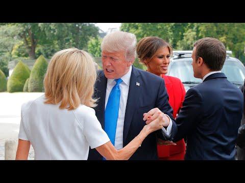 Donald Trump komentuje wygląd Brigitte Macron