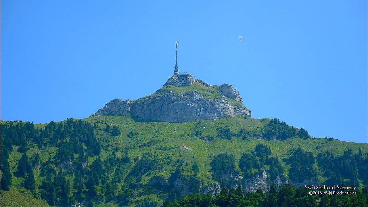 4k Hoher Kasten Bahn Appenzell Switzerlnd アルプス山脈