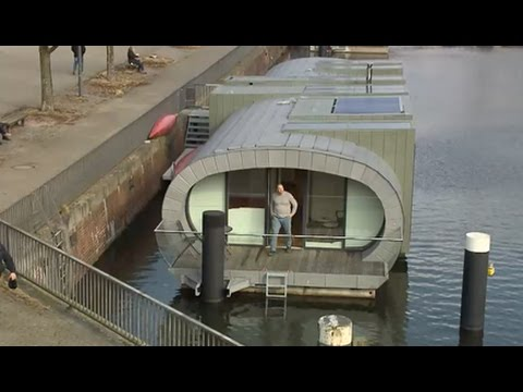 leben auf dem wasser hausboote in hamburg youtube. Black Bedroom Furniture Sets. Home Design Ideas