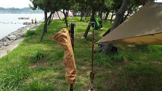 지인 분 해먹캠핑 체험 시켜드리기  캠핑속에 한국적인 …