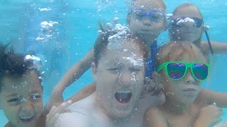 💦📷KIDS UNDERWATER CAMERA FUN🏊 | POLAROID CUBE+ UNDERWATER | DYCHES FAM