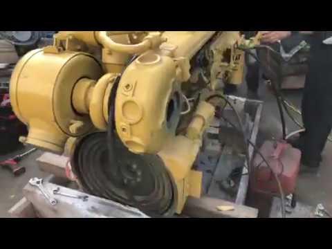 Caterpillar 3306 Marine Propulsion Engine 235 HP - Test Run