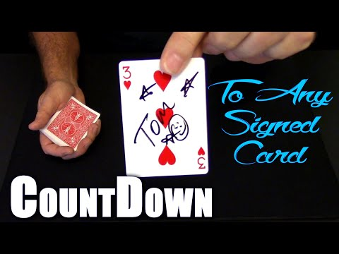 COUNTDOWN To A SIGNED Card! ~ An In Depth Tutorial