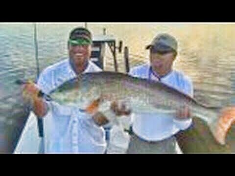Schools in giant redfish chew on this saltwater fishing for Saltwater fishing expo