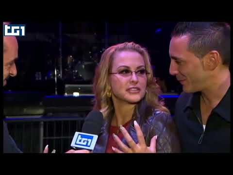 Anastacia with Kekko Modà interview at TG1, 28.11.2014