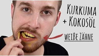 Kurkuma und Kokosöl: 4 Schritte zu weißen Zähnen