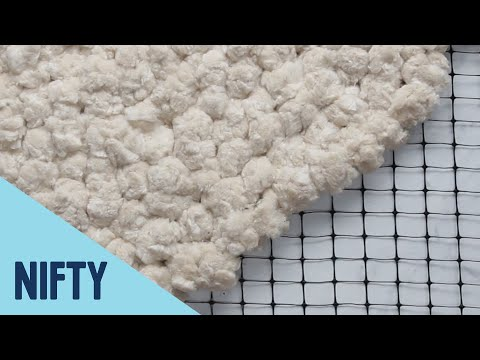 No-Sew Fluffy Cotton Rug thumbnail