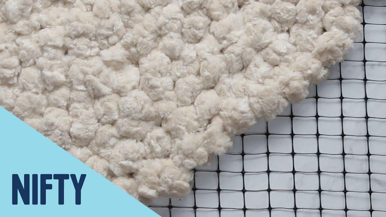 No-Sew Fluffy Cotton Rug