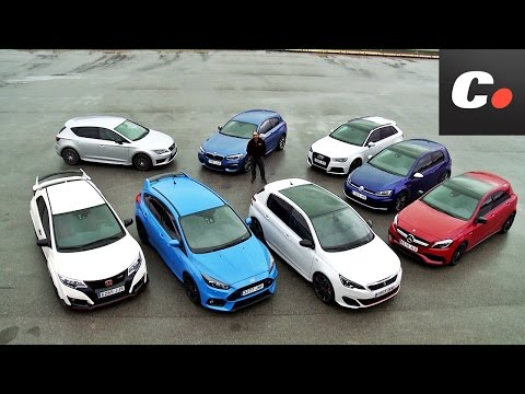 Comparativa GTI / Hot Hatch: Ford Focus RS, Mercedes-AMG A45, Audi RS3, Honda Civic Type R y más