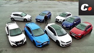 vuclip Ford Focus RS, Mercedes-AMG A45, Audi RS3, VW Golf R, Honda Civic Type R... | Comparativa Hot Hatch